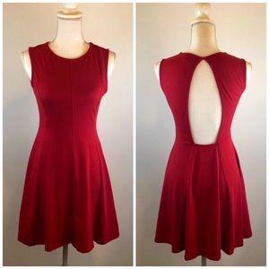 •ASOS• Red Open Back Skater Dress Size 6